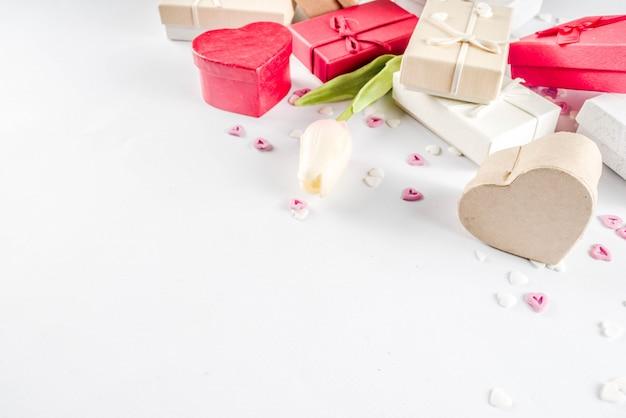 バレンタインギフトギフトボックスの背景