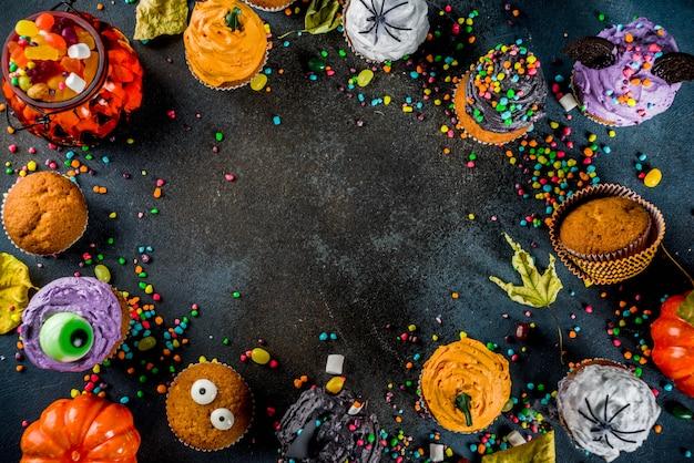 ハロウィーン用の面白い子供用ケーキ