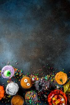 Смешные детские кексы на хэллоуин