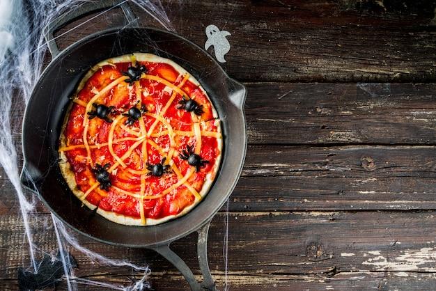 Пицца паутины хэллоуина