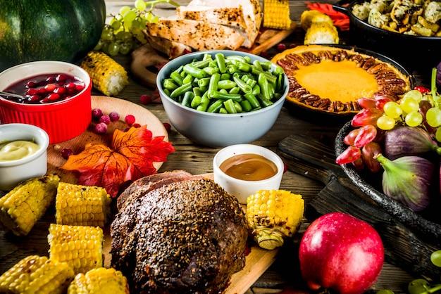 Концепция ужина на день благодарения