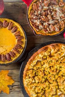 伝統的な季節の秋のパイ