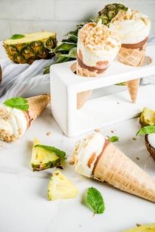 Тропические фрукты домашнее мороженое