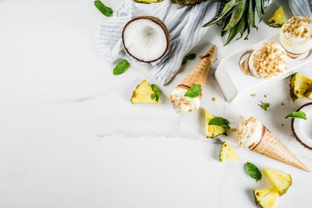 Мороженое из тропических фруктов