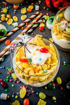 Веселый хэллоуин мелочь десерт