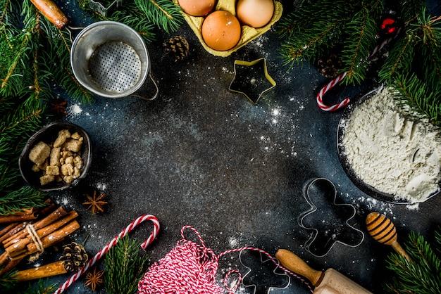 Рождественская выпечка фон
