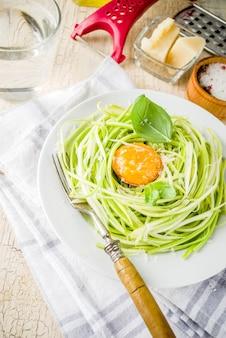 Веганские макароны из цуккини спагетти