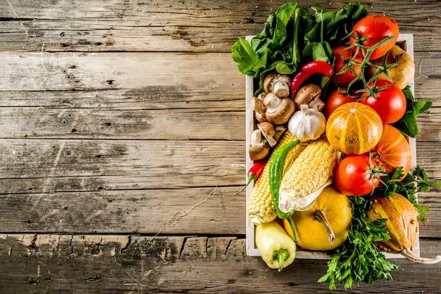 Осенний фон приготовления пищи