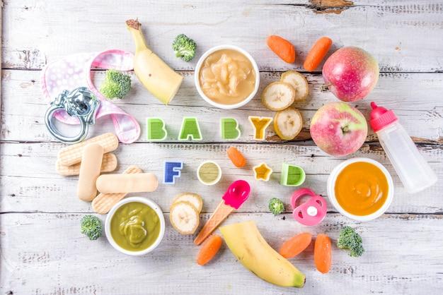 Красочное детское питание пюре