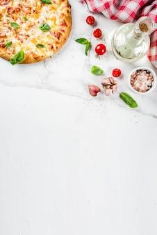 自家製の安っぽいピザ