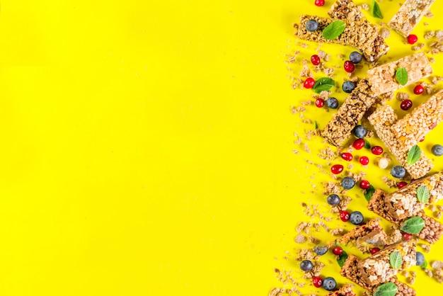 Зерновые батончики мюсли