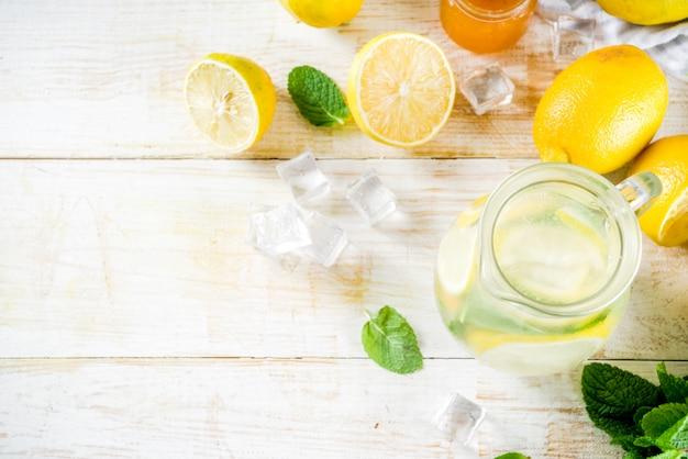 Домашний кислый коктейль лимонад