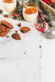クリスマスのチョコレートクリンクルクッキー