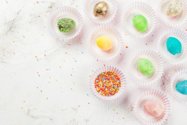 Веселые шоколадные конфеты на пасху