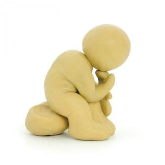 白黄色の粘土男思考。