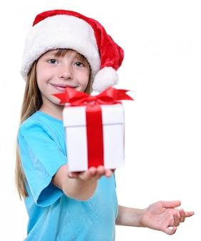 クリスマスサンタの女の子の贈り物。