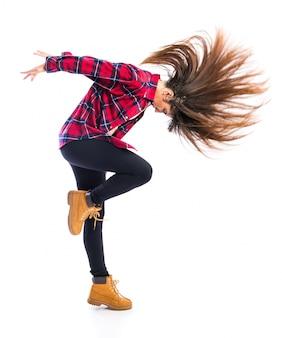 女の子踊るヒップホップ