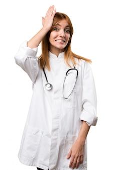 若い、医者、女、疑わしい
