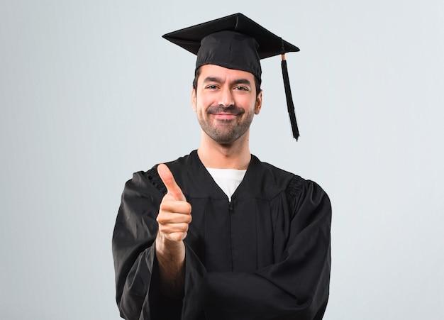 彼の卒業式日に男