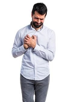 胸の大人の痛み男性の人
