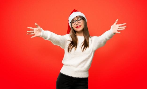 クリスマスの休日を祝って、来てくれるように誘われた少女