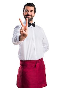 仕事の弓のスタッフの髭のユニフォーム