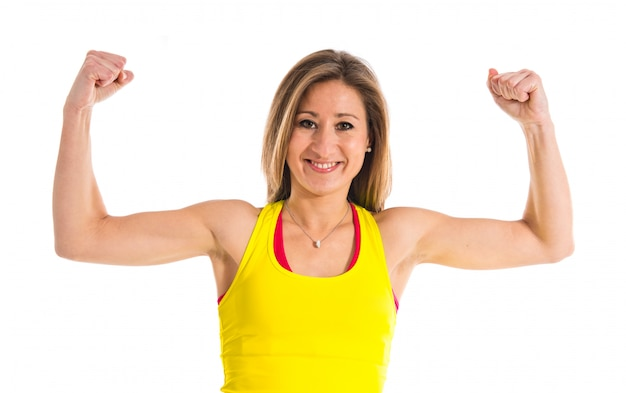 強いスポーツの女性