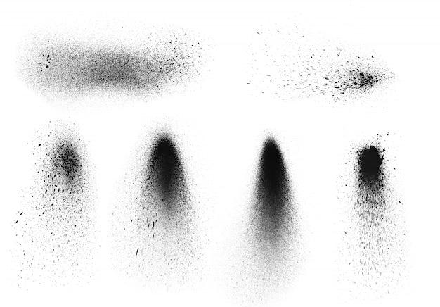 フリーハンドシンプルなスプレー塗料グラフィティテクスチャ。インク要素のグランジ