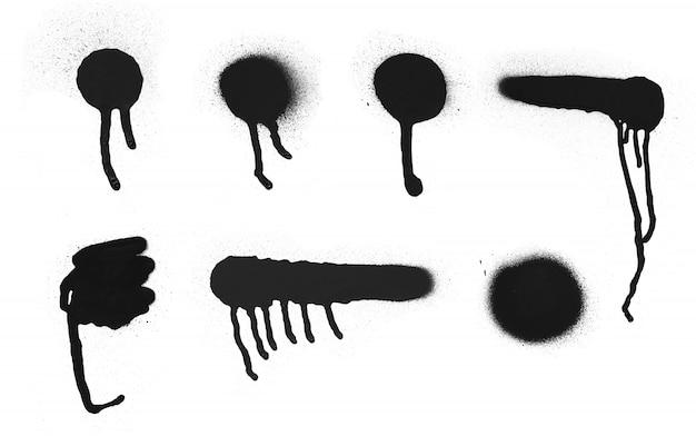 От руки простой спрей краска граффити текстуры. чернила элемент гранж