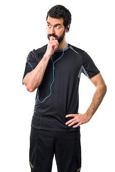 Тонкая думающая гонка сильная борода