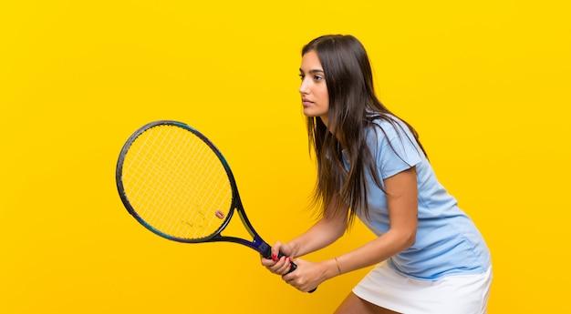 若いテニス選手の女性