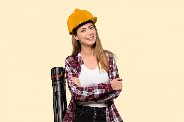 建築家の女性幸せと笑顔