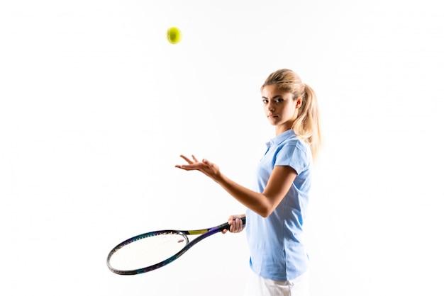 Девушка теннисиста подростка