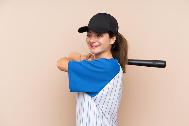 野球をしている若い女の子