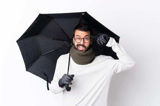 傘を持つ男