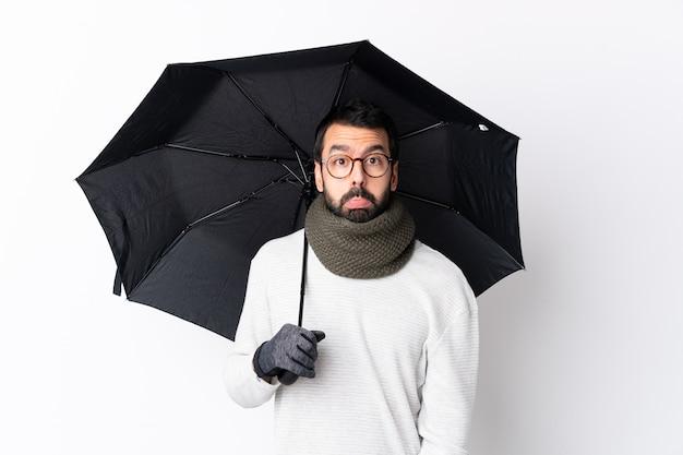 Молодой человек с зонтиком