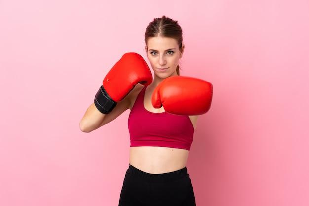 若いスポーツ女性