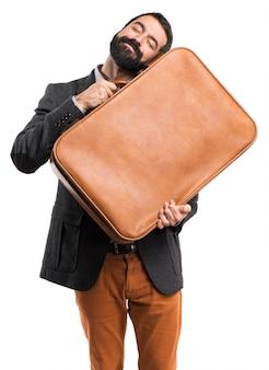 ブリーフケースを持っている男