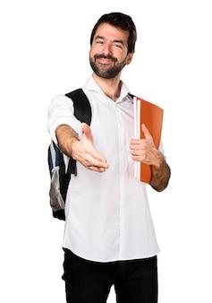 取引をしている学生の男