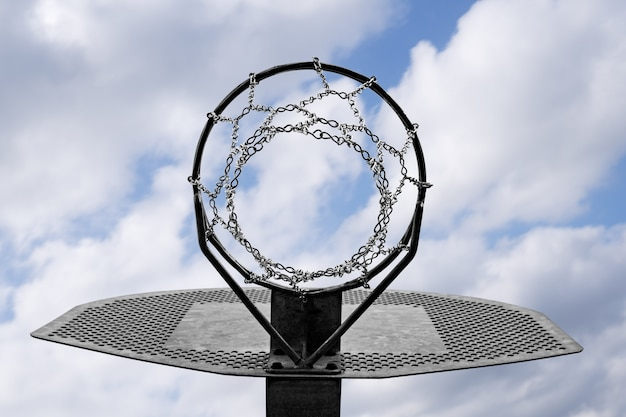 金属製バスケットボールフープ