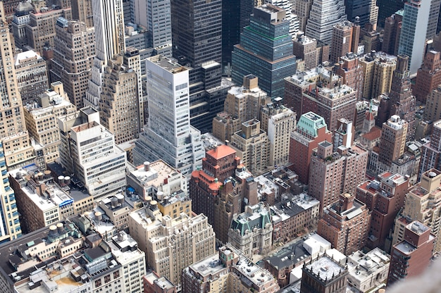 マンハッタン、ニューヨークの空撮。