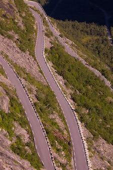 ノルウェーのノルウェーの道路。