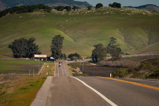 カリフォルニアのグリーンバレーからの眺め