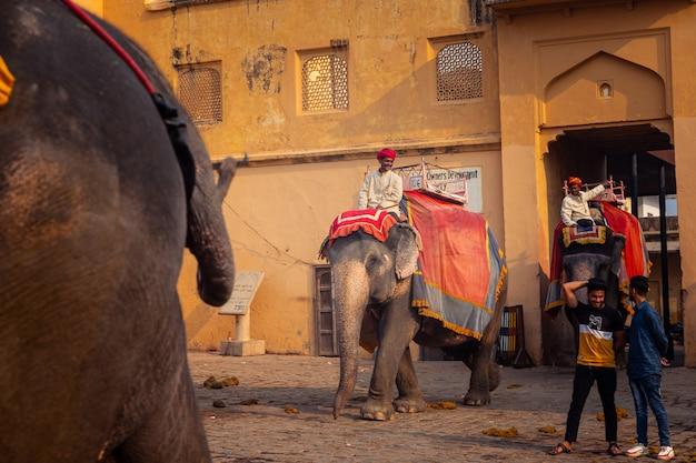 インドのラジャスタン地域の琥珀の宮殿。