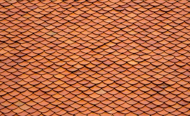 古いタイル屋根の背景