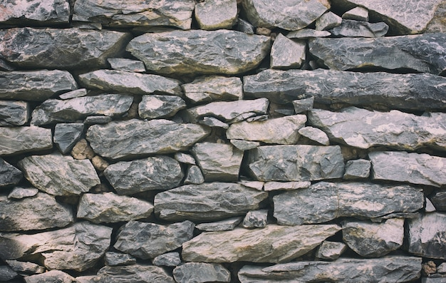 石の壁のテクスチャや背景 - ヴィンテージフィルター