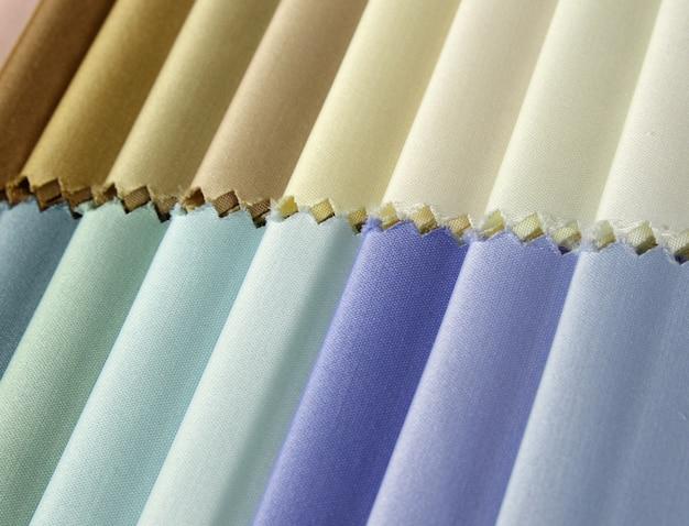 Деталь образцов текстурной ткани