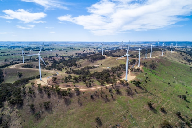 田舎の風力発電所