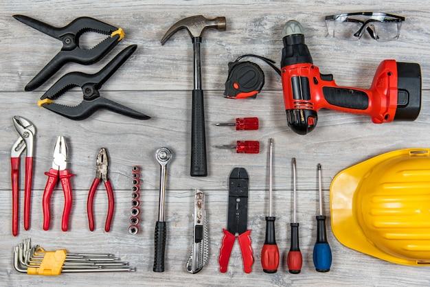 Строительные ручные инструменты, плоская планировка