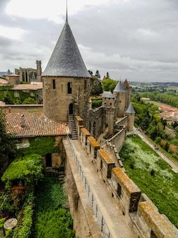 カルカソンヌの中世の城壁、オード、フランス